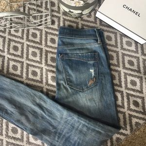 Legging Mid-rise Washed Blue Jeans
